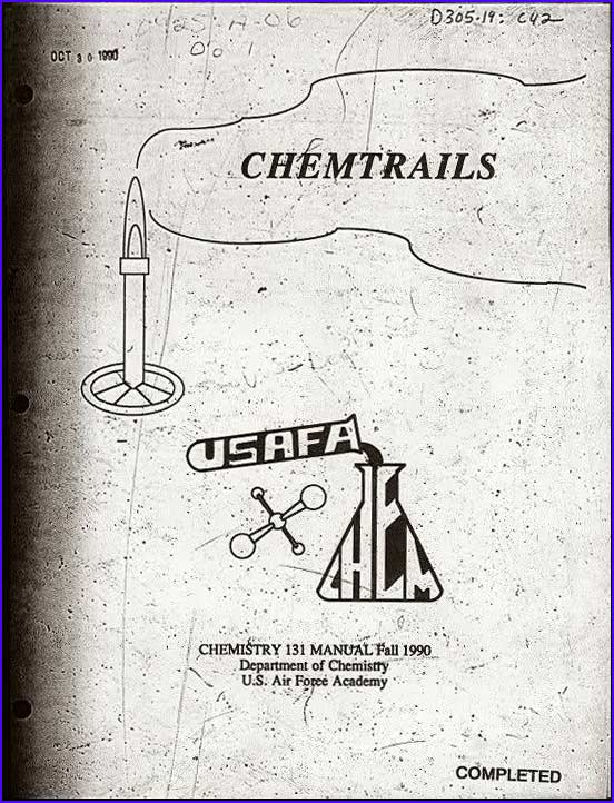 Chemtrails USAF manual title page