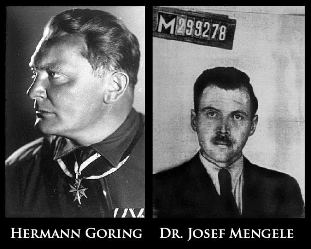 Hermann Goring Josef Mengele